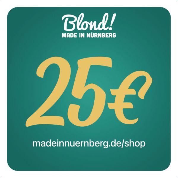 Gutschein Onlineshop 25€