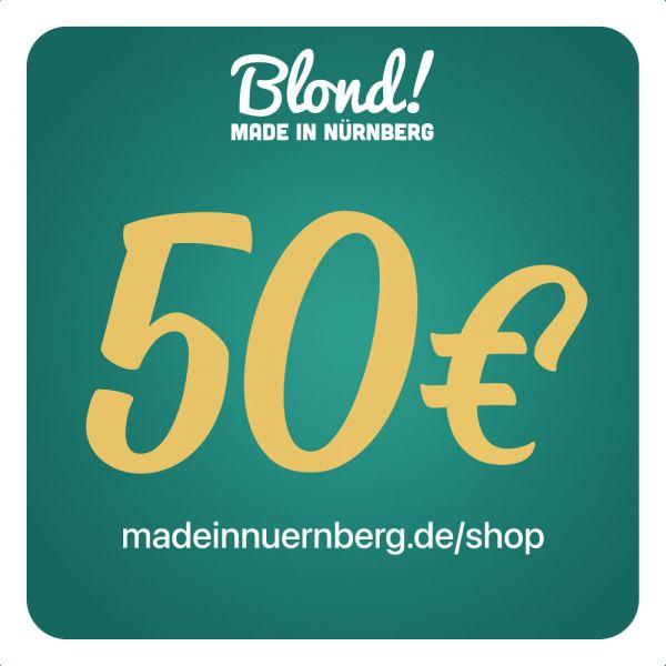 Gutschein Onlineshop 50€