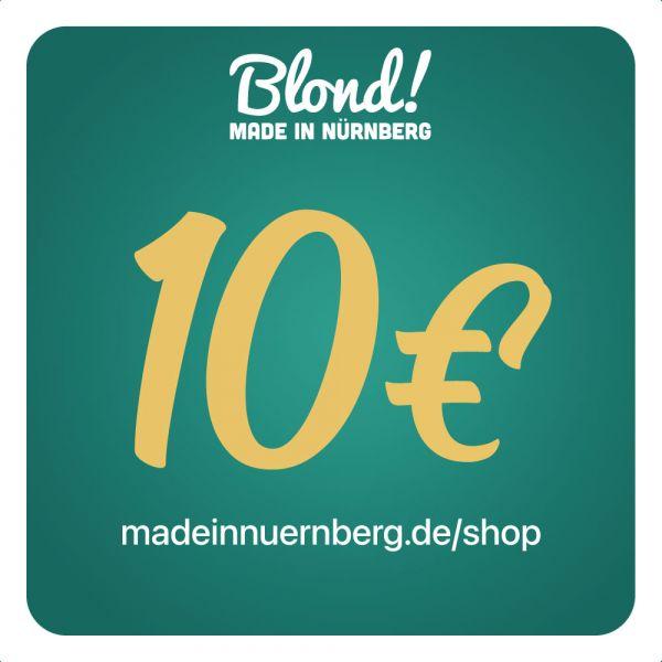Gutschein Onlineshop 10€